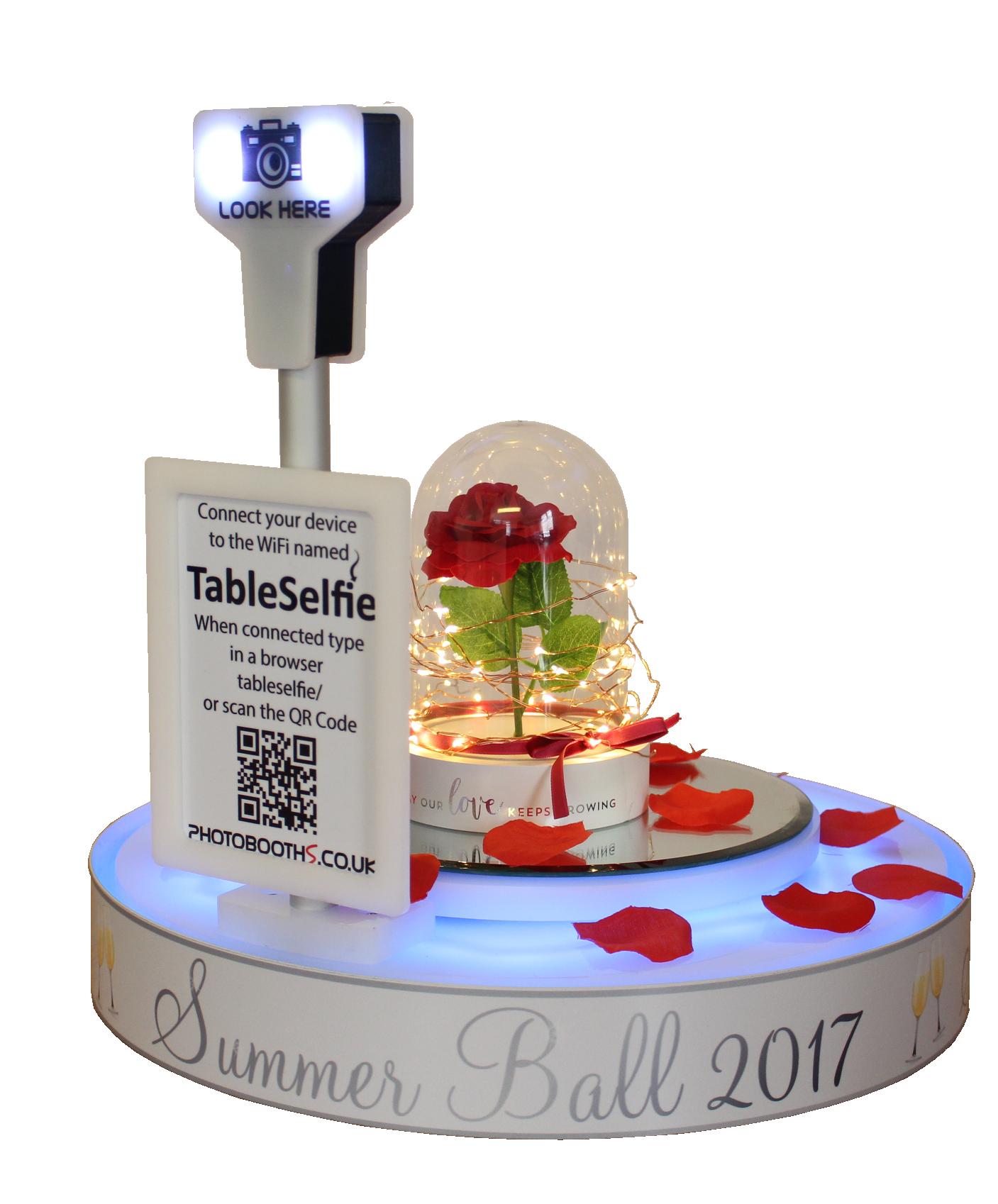 Table Selfie Roses Clear
